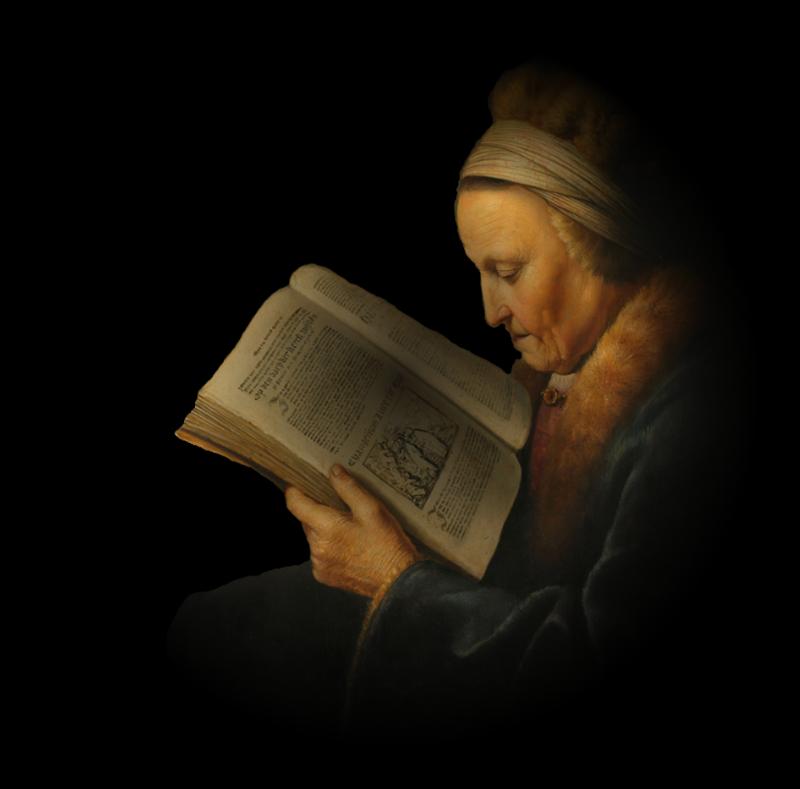 vecchia signora che legge
